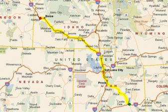 Road Mapof Southern Idaho Submited Images